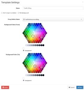 Konfiguration des Custom-Widgets